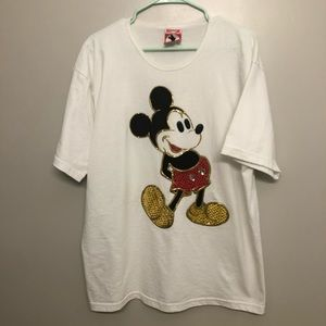 Disney Mickey inc Mickey Mouse shirt vtg white